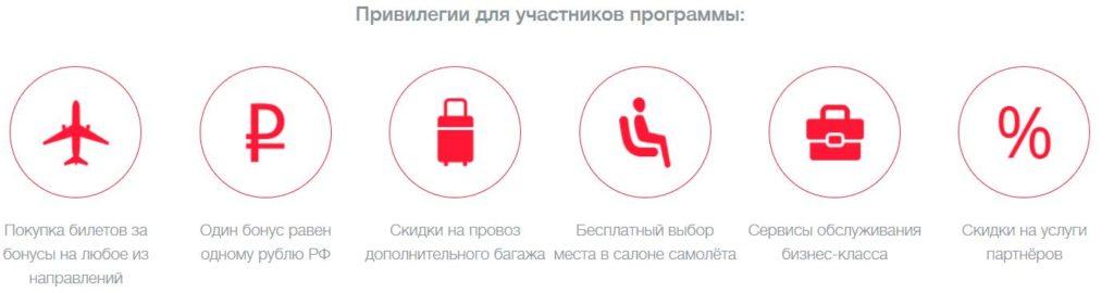 Скрин программы лояльности Уральских авиалиний